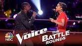 Knock On Wood (The Voice 2014 Battle Round)-Damien  ft.  Kelli Douglas