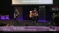 Video Young Volcanoes (Live In The Bing Lounge) - Fall Out Boy