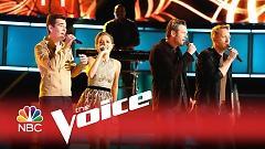 Video Lean On Me (The Voice 2015) - Blake Shelton , Barrett Baber , Emily Ann Roberts , Zach Seabaugh