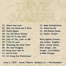 Album Berkeley CA - Dave Mason