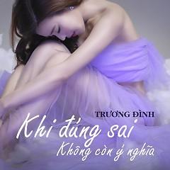 Album Khi Đúng Sai Không Còn Ý Nghĩa (Single) - Trương Đình