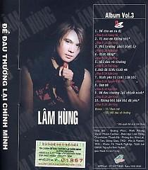 Album Để Đau Thương Lại Chính Mình - Lâm Hùng