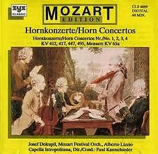 Album Mozart - Horn Concertos - Josef Dokupil