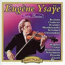 Album Violin Recital - Eugene Ysaye