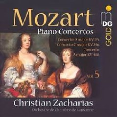 Album Mozart - Piano Concertos Vol. 5 - Christian Zacharias ft. Lausanne Chamber Orchestra