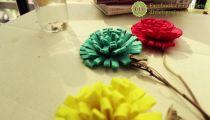 DIY - LET'S GO - Cùng Làm Hoa Từ Vải Nỉ
