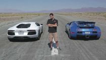 Bugatti Veyron đọ sức cùng Aventador -