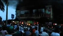 Cháy trung tâm thương mại TP Hải Dương -