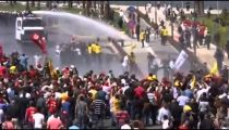 Turkish police fire water cannons at protesters after mine disaster -