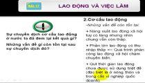 Môn Địa Lý - Zuni.vn - Đại Lý Dân Cư - Lao Động Và Việc Làm