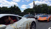 Đoàn xe Gia Lai Team trong hành trình goldRush Rally -