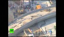 Aerial video: Bridge collapses in Brazil World Cup host city Belo Horizonte -