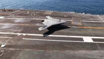 US Navy - X-47B UCAS First Touch & Go Landing Tests On USS George H.W. Bush (CVN 77) [1080p] -