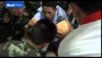 Chinese builder electrocuted then head impaled on metal bar at work! -