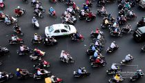 Ho Chi Minh City (Saigon), Vietnam Rush Hour Traffic in Real Time -