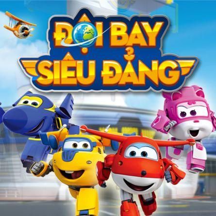 Phim Đội Bay Siêu Đẳng HTV3 Lồng Tiếng - Super Wings - Lồng tiếng